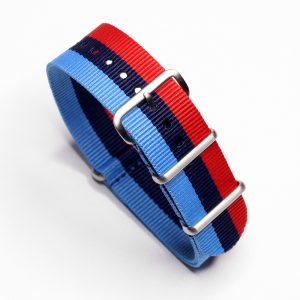 BMW MPower Inspired Nylon Watch Strap for Vintage and Modern Wristwatch Chronograph automatic