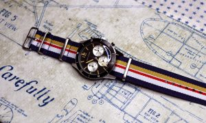 Rothmans Porsche Inspired Nylon Watch Strap for Vintage and Modern Wristwatch Chronograph automatic