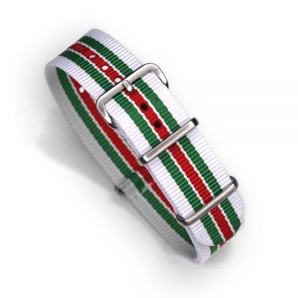 Italian Racing Lancia Rally Inspired Nylon Watch Strap for Vintage and Modern Wristwatch Chronograph automatic